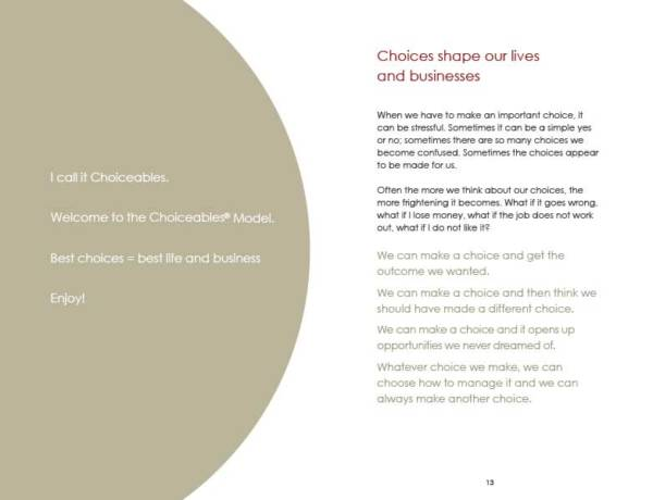 Choiceables p12-13 - A Model for Making Choices